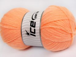 Lot of 4 x 100gr Skeins Ice Yarns KRISTAL Hand Knitting Yarn Salmon