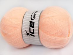 Lot of 4 x 100gr Skeins Ice Yarns KRISTAL Hand Knitting Yarn Light Salmon