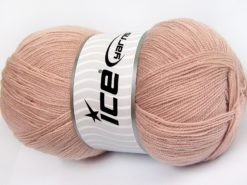 Lot of 4 x 100gr Skeins Ice Yarns KRISTAL Hand Knitting Yarn Antique Pink