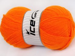 Lot of 4 x 100gr Skeins Ice Yarns KRISTAL Hand Knitting Yarn Orange