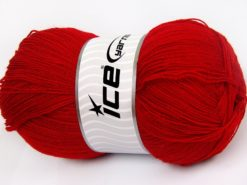 Lot of 4 x 100gr Skeins Ice Yarns KRISTAL Hand Knitting Yarn Marsala Red