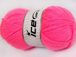 Lot of 4 x 100gr Skeins Ice Yarns KRISTAL Hand Knitting Yarn Pink