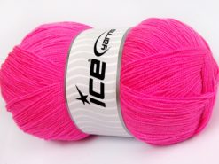 Lot of 4 x 100gr Skeins Ice Yarns KRISTAL Hand Knitting Yarn Candy Pink