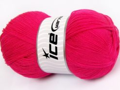 Lot of 4 x 100gr Skeins Ice Yarns KRISTAL Hand Knitting Yarn Dark Pink