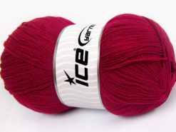Lot of 4 x 100gr Skeins Ice Yarns KRISTAL Hand Knitting Yarn Fuchsia
