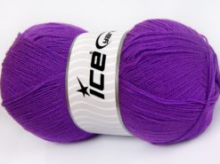 Lot of 4 x 100gr Skeins Ice Yarns KRISTAL Hand Knitting Yarn Lilac