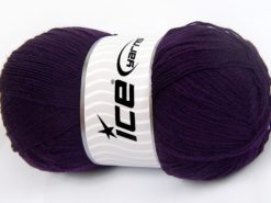 Lot of 4 x 100gr Skeins Ice Yarns KRISTAL Hand Knitting Yarn Dark Purple
