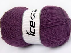 Lot of 4 x 100gr Skeins Ice Yarns KRISTAL Hand Knitting Yarn Lavender