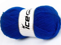 Lot of 4 x 100gr Skeins Ice Yarns KRISTAL Hand Knitting Yarn Dark Blue