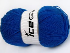 Lot of 4 x 100gr Skeins Ice Yarns KRISTAL Hand Knitting Yarn Blue