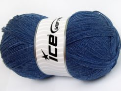 Lot of 4 x 100gr Skeins Ice Yarns KRISTAL Hand Knitting Yarn Jeans Blue