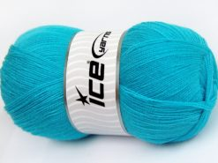 Lot of 4 x 100gr Skeins Ice Yarns KRISTAL Hand Knitting Yarn Turquoise