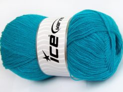 Lot of 4 x 100gr Skeins Ice Yarns KRISTAL Hand Knitting Yarn Dark Turquoise