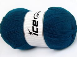Lot of 4 x 100gr Skeins Ice Yarns KRISTAL Hand Knitting Yarn Dark Teal
