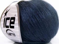 Lot of 8 Skeins Ice Yarns ROCKABILLY (67% Tencel) Hand Knitting Yarn Navy