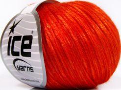 Lot of 8 Skeins Ice Yarns ROCKABILLY (67% Tencel) Yarn Dark Orange