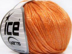 Lot of 8 Skeins Ice Yarns ROCKABILLY (67% Tencel) Yarn Light Orange