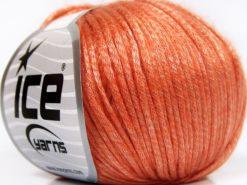 Lot of 8 Skeins Ice Yarns ROCKABILLY (67% Tencel) Hand Knitting Yarn Salmon