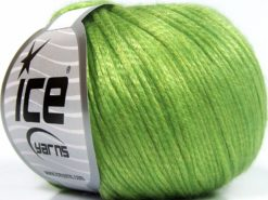 Lot of 8 Skeins Ice Yarns ROCKABILLY (67% Tencel) Yarn Light Green