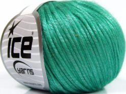 Lot of 8 Skeins Ice Yarns ROCKABILLY (67% Tencel) Hand Knitting Yarn Green