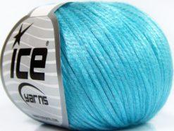 Lot of 8 Skeins Ice Yarns ROCKABILLY (67% Tencel) Yarn Light Turquoise