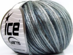 Lot of 8 Skeins Ice Yarns ROCKABILLY COLOR (67% Tencel) Yarn Grey Shades Light Blue