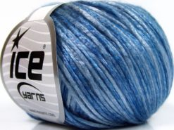 Lot of 8 Skeins Ice Yarns ROCKABILLY COLOR (67% Tencel) Yarn Blue Shades