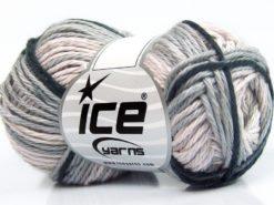 Lot of 8 Skeins Ice Yarns SKY COTTON (100% Cotton) Yarn Beige Anthracite Black Light Grey