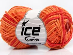 Lot of 8 Skeins Ice Yarns SKY COTTON (100% Cotton) Yarn Red Gold Light Pink