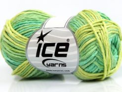Lot of 8 Skeins Ice Yarns SKY COTTON (100% Cotton) Yarn Green Shades