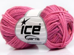 Lot of 8 Skeins Ice Yarns SKY COTTON (100% Cotton) Yarn Pink Shades