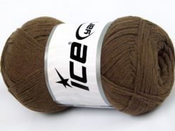 Lot of 4 x 100gr Skeins Ice Yarns NATURAL COTTON AIR (100% Cotton) Yarn Camel