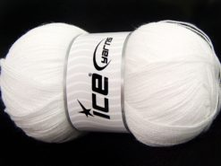 Lot of 4 x 100gr Skeins Ice Yarns KRISTAL Hand Knitting Yarn Optical White