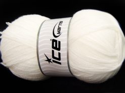 Lot of 4 x 100gr Skeins Ice Yarns KRISTAL Hand Knitting Yarn White