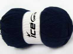 Lot of 4 x 100gr Skeins Ice Yarns KRISTAL Hand Knitting Yarn Dark Navy