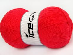 Lot of 4 x 100gr Skeins Ice Yarns KRISTAL Hand Knitting Yarn Dark Salmon