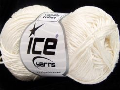 Lot of 6 Skeins Ice Yarns CAMILLA COTTON (100% Mercerized Cotton) Yarn Ecru