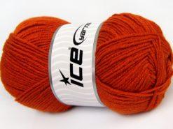 Lot of 4 x 100gr Skeins Ice Yarns MERINO GOLD LIGHT (60% Merino Wool) Yarn Terra Cotta