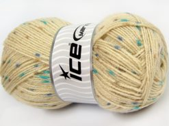 Lot of 4 x 100gr Skeins Ice Yarns BABY LOLLIPOP Yarn Beige Turquoise Blue