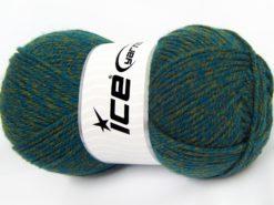 Lot of 4 x 100gr Skeins Ice Yarns Worsted FAVORITE Yarn Green Turquoise