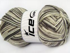Lot of 4 x 100gr Skeins Ice Yarns LORENA COLOR (50% Cotton) Yarn Grey Camel Cream