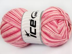 Lot of 4 x 100gr Skeins Ice Yarns LORENA COLOR (50% Cotton) Yarn Pink Shades