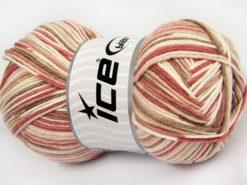 Lot of 4 x 100gr Skeins Ice Yarns LORENA COLOR (50% Cotton) Yarn Beige Cream Pink Shades