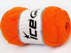 Lot of 4 x 100gr Skeins Ice Yarns NATURAL COTTON AIR (100% Cotton) Yarn Orange