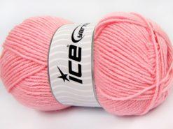 Lot of 4 x 100gr Skeins Ice Yarns MERINO GOLD LIGHT (60% Merino Wool) Yarn Baby Pink