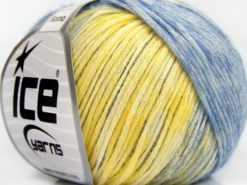 Lot of 6 Skeins Ice Yarns ROMA (26% Wool 74% Modal) Yarn Yellow Blue Shades