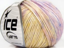 Lot of 6 Skeins Ice Yarns ROMA (26% Wool 74% Modal) Yarn Yellow Lilac Pink