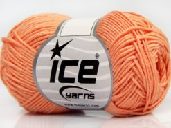 Lot of 8 Skeins Ice Yarns BABY BAMBOO (50% Bamboo) Yarn Light Salmon
