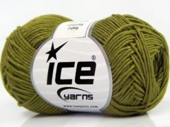 Lot of 8 Skeins Ice Yarns BABY BAMBOO (50% Bamboo) Yarn Jungle Green