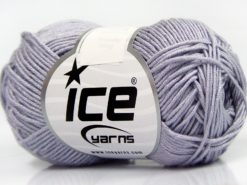 Lot of 8 Skeins Ice Yarns BABY BAMBOO (50% Bamboo) Yarn Light Lilac